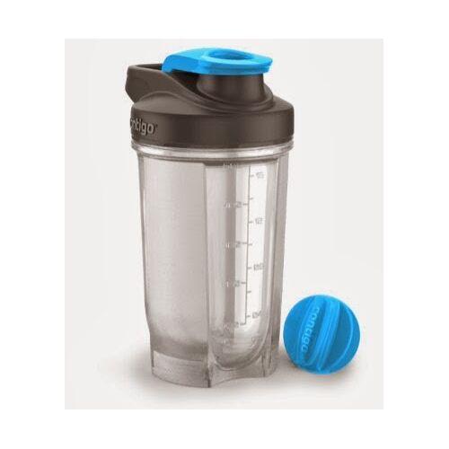 CONTIGO Shaker do odżywek SHAKE&GO; FIT 590 ml-Czarny