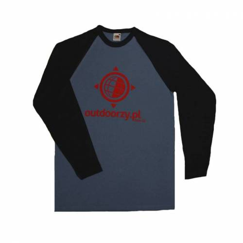 OUTDOORZY Koszulka LS-L-Czerwony