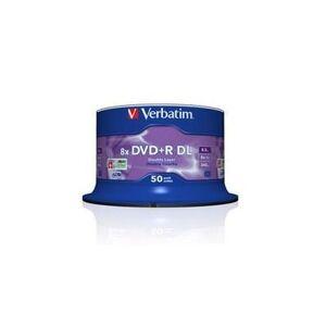 Verbatim Dysk DVD+R VERBATIM 8x 8,5GB Cake 50 szt DL