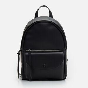 Cropp - Plecak z imitacji skóry - Czarny - damski - YP460-99X  - Czarny - Size: Uniwersalny