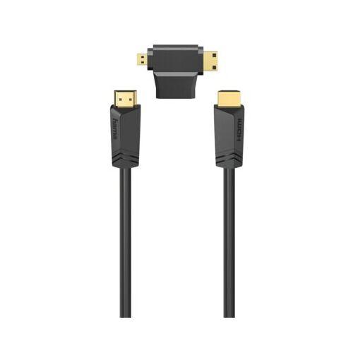 Hama Kabel HDMI - HDMI HAMA 1.5 m + Adapter  HDMI