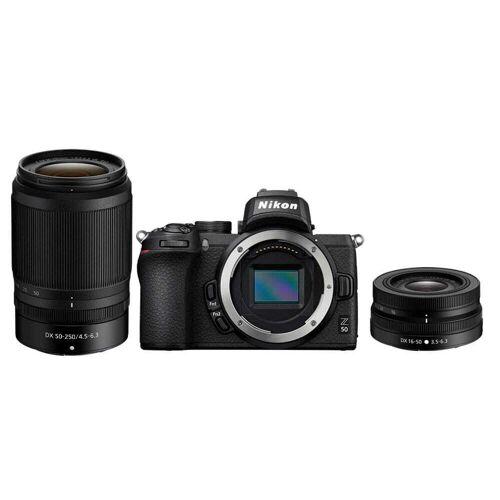 Nikon Aparat cyfrowy bezlusterkowiec Nikon Z50 +16-50mm VR+ 50-250mm VR