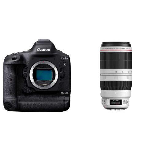 Canon EOS 1DX Mark III + EF 100-400 mm f/4.5-5.6 L IS II USM + karta + czytnik