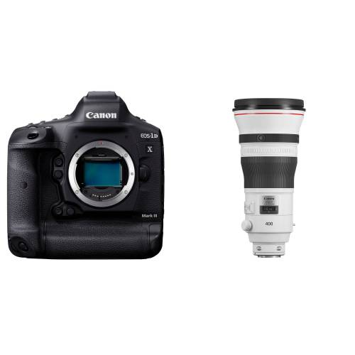 Canon EOS 1DX Mark III + EF 400mm f/2.8 IS USM III + karta + czytnik