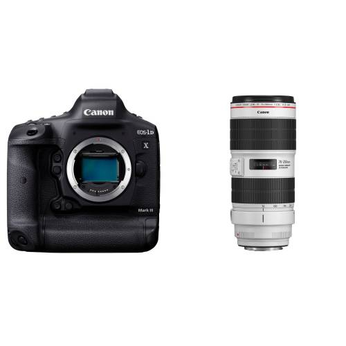 Canon EOS 1DX Mark III + EF 70-200mm f/2.8L IS III USM + karta + czytnik