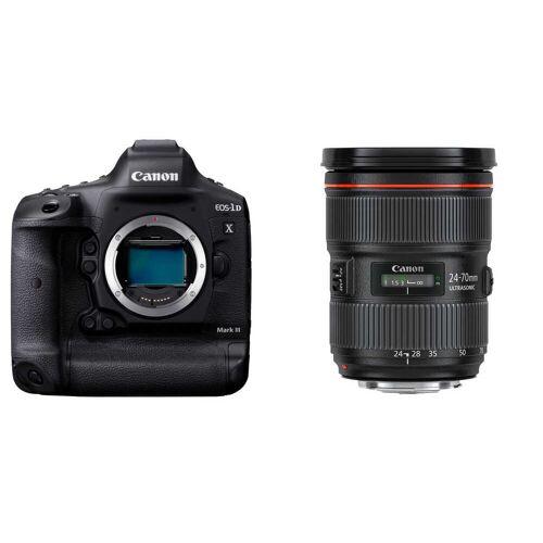 Canon EOS 1DX Mark III + EF 24-70 mm f/2.8 L II USM + karta + czytnik