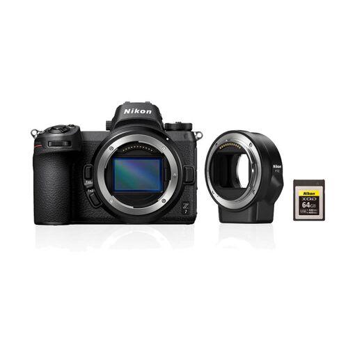 Nikon Z7 + FTZ adapter + 64GB XQD