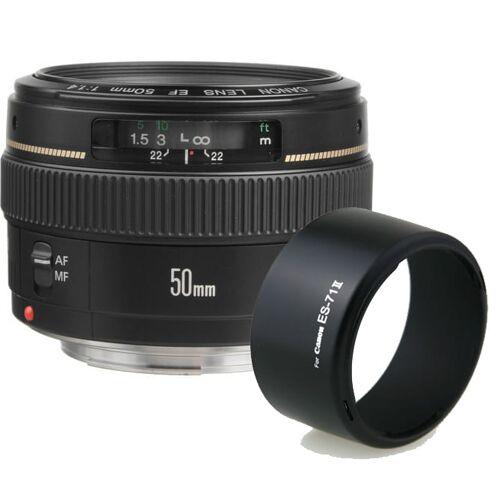 Canon Obiektyw Canon EF 50 mm f/1.4 USM + osłona Phottix