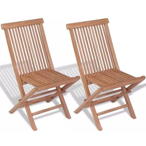 Elior Składane krzesła ogrodowe tekowe Soriano - 2 szt