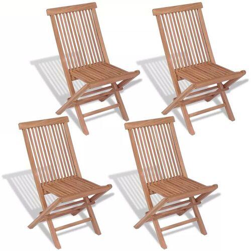 Elior Tekowe krzesła ogrodowe Soriano - 4 szt