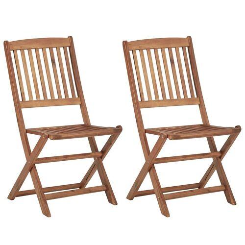 Elior Krzesła ogrodowe akacjowe Mandy - 2 szt.