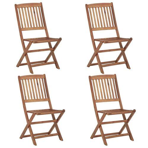 Elior Drewniane krzesła ogrodowe Mandy - 4 szt.