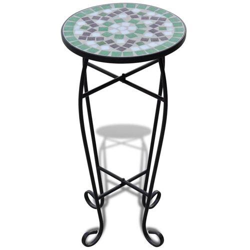 Elior Zielono-biały mozaikowy stojak na kwiaty - Cadix