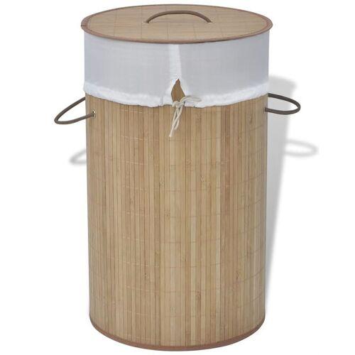 Elior Bambusowy kosz na pranie Lavandi 2X- naturalny