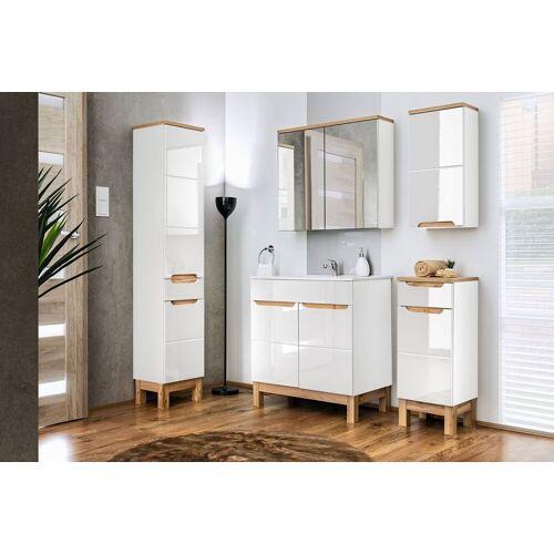 Producent: Elior Zestaw mebli łazienkowych Marsylia 2Q 80 cm - Biały połysk