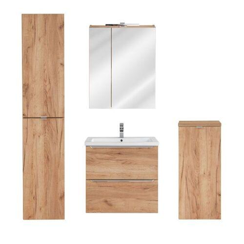 Producent: Elior Zestaw podwieszanych szafek łazienkowych - Malta 2Q Dąb 60 cm