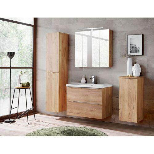Producent: Elior Zestaw podwieszanych szafek łazienkowych - Malta 2Q Dąb 80 cm