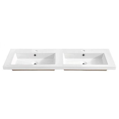 Producent: Elior Podwójna biała umywalka ceramiczna 120 cm - Avio