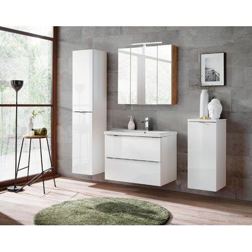Producent: Elior Zestaw podwieszanych szafek łazienkowych - Malta 2Q Biały połysk 80 cm