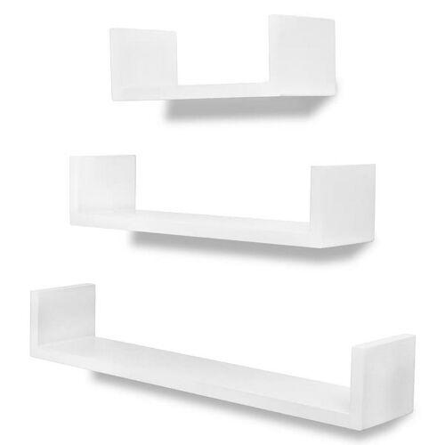 Elior Zestaw białych półek ściennych - Baffic 2X