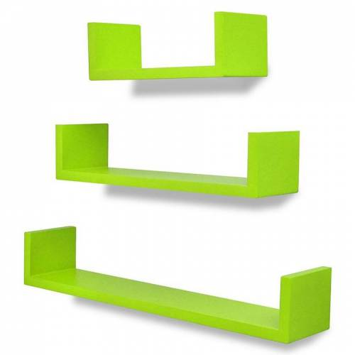 Elior Zestaw zielonych półek ściennych - Baffic 2X