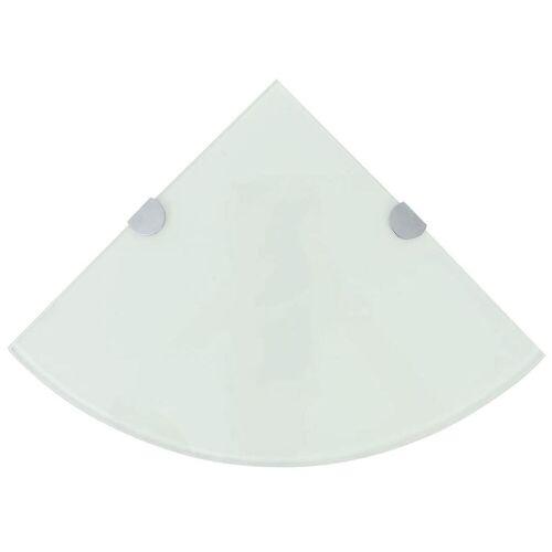 Elior Półka narożna z białego szkła - Gaja 2X