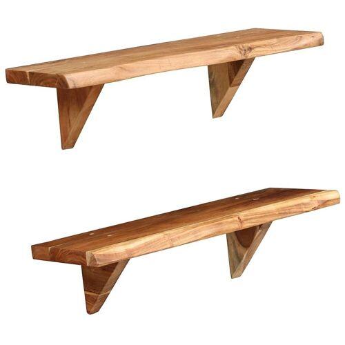 Elior Zestaw drewnianych półek ściennych - Clive 2X