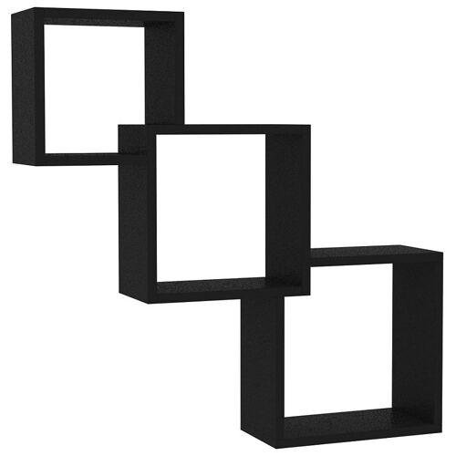 Elior Zestaw czarnych półek ściennych - Lindsay