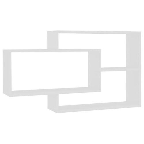 Elior Zestaw białych półek ściennych - Acker