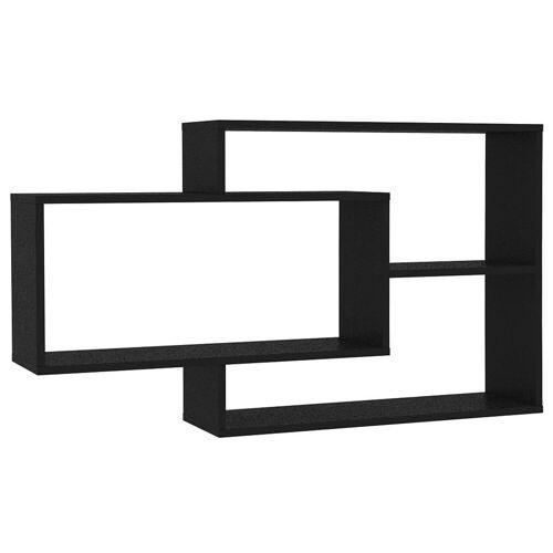 Elior Zestaw czarnych półek ściennych - Acker