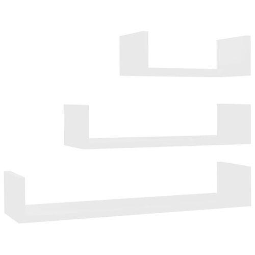 Elior Zestaw białych półek ściennych - Baffic 3X