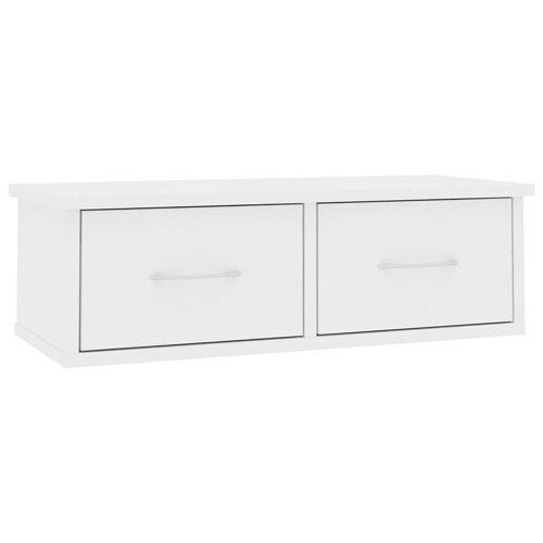 Elior Półka ścienna z szufladami Toss 2X - biała