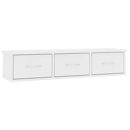 Elior Półka ścienna z szufladami Toss 3X - biała