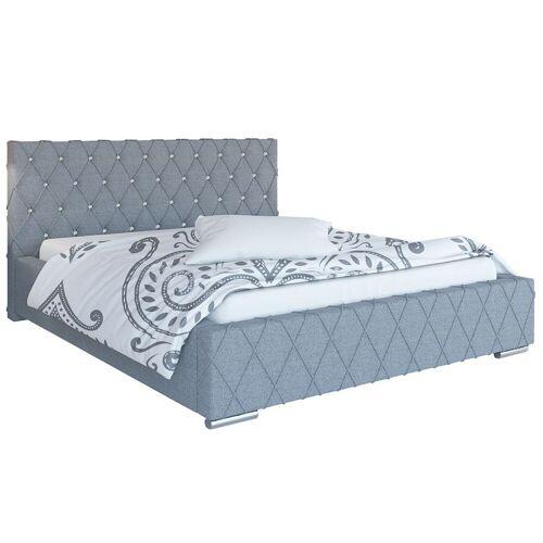 Elior Podwójne łóżko ze schowkiem 140x200 Loban 2X - 48 kolorów