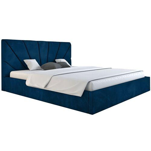 Elior Podwójne łóżko ze schowkiem 160x200 Senti 2X - 48 kolorów