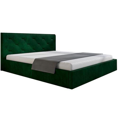 Elior Pikowane łóżko jednoosobowe 120x200 Netta 3X - 48 kolorów