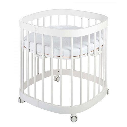 Elior Białe wielofunkcyjne łóżeczko dziecięce - Nando 2X