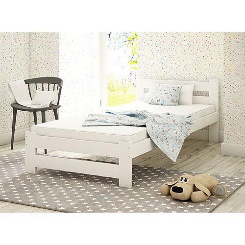 Producent: Elior Jednoosobowe łóżko Marsel 90x200 - białe