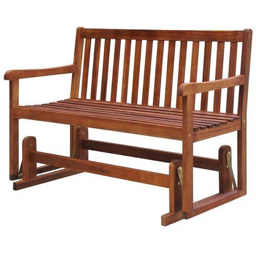 Producent: Elior Drewniana ławka ogrodowa z huśtawką Leos - brązowa