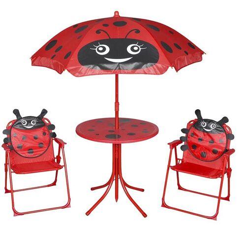 Producent: Elior Zestaw mebli ogrodowych dla dzieci Lummo - czerwony