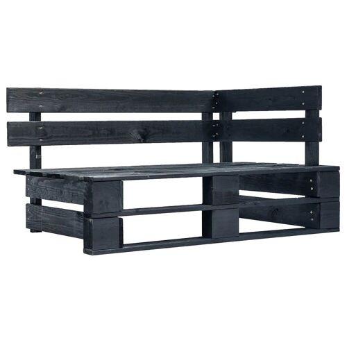 Elior Czarna ławka ogrodowa z palet - Bradley 3X