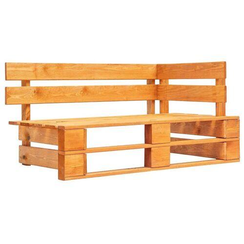 Elior Brązowa ławka ogrodowa z palet - Bradley 3X