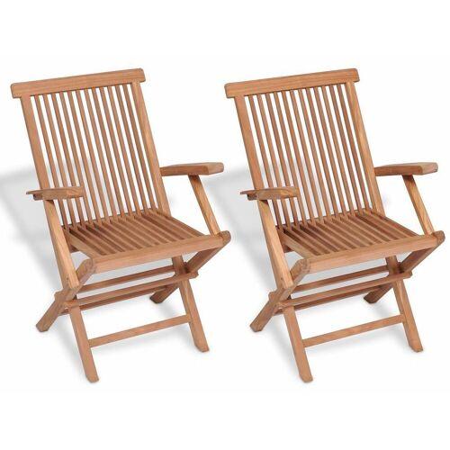Elior Drewniane krzesła ogrodowe Soriano 2X - 2 szt