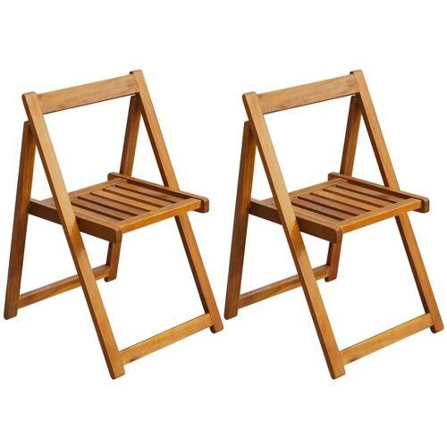 Elior Akacjowe krzesła ogrodowe Hobart 2 szt
