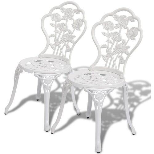 Elior Zestaw metalowych krzeseł ogrodowych Mesa - biały