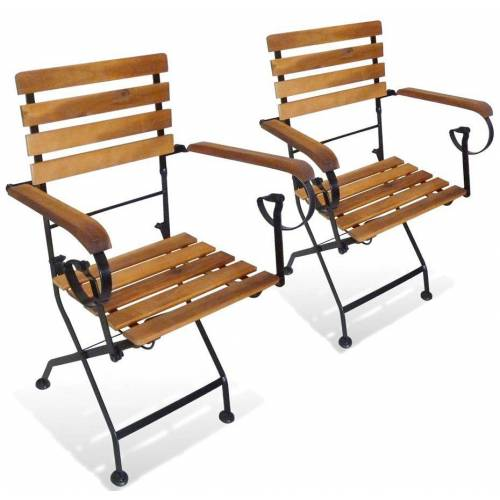 Elior Składane krzesła tarasowe Dixter 2X - 2 szt.