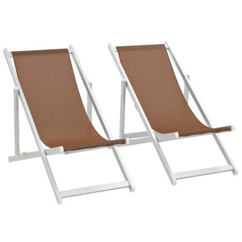 Elior Składane krzesła plażowe Strand - brąz