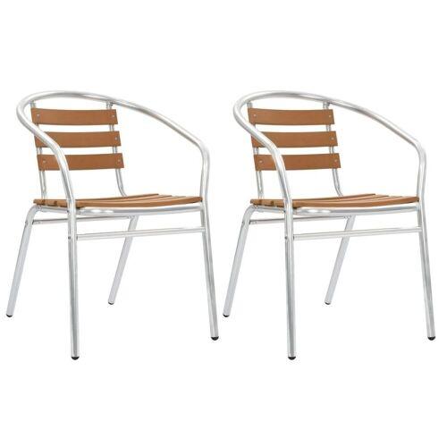 Elior Zestaw metalowych krzeseł ogrodowych Folind 2X - srebrny