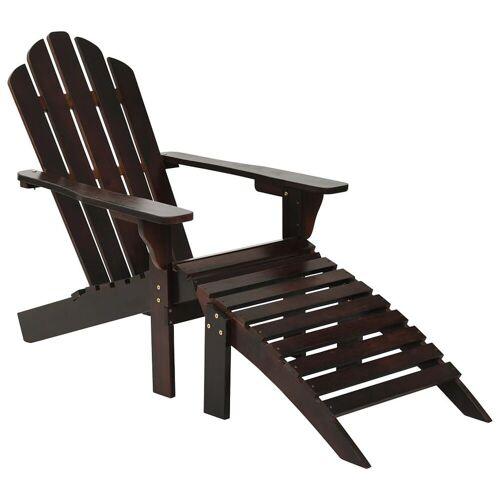 Elior Drewniane krzesło ogrodowe Falcon - brązowe