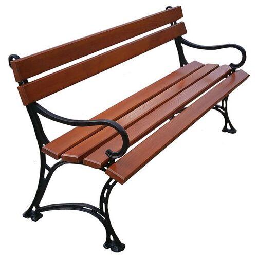 Producent: Elior Żeliwna drewniana ławka ogrodowa Helen 2X 180cm - 7 kolorów